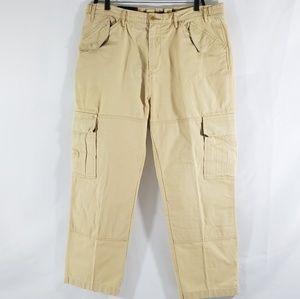 Other - Vtg J. PETERMAN Khaki Beige Cotton Adj Waist Mens